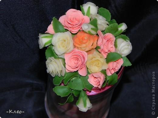 Эта банка с солью, украшенная цветами из холодного фарфора (самодельного) ушла в подарок маме. фото 2