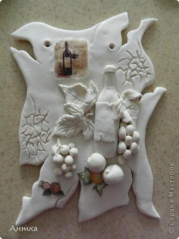 Картина панно рисунок Мастер-класс День рождения Декупаж Лепка Роспись Расколотое панно для кухни МК Тесто соленое фото 14