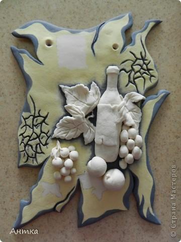 Картина панно рисунок Мастер-класс День рождения Декупаж Лепка Роспись Расколотое панно для кухни МК Тесто соленое фото 24