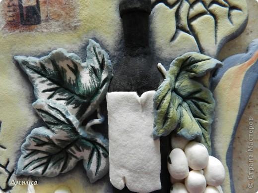 Картина панно рисунок Мастер-класс День рождения Декупаж Лепка Роспись Расколотое панно для кухни МК Тесто соленое фото 29