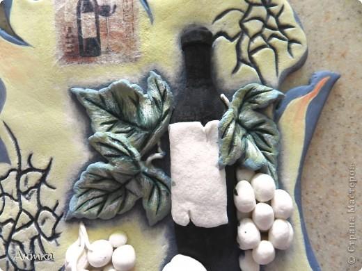 Картина панно рисунок Мастер-класс День рождения Декупаж Лепка Роспись Расколотое панно для кухни МК Тесто соленое фото 30
