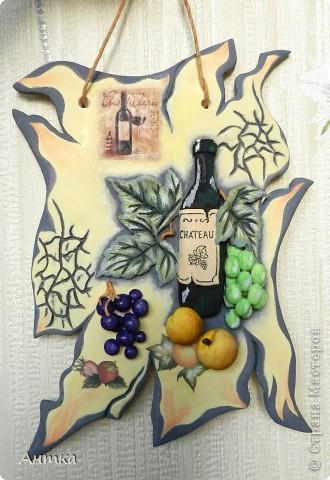 Картина панно рисунок Мастер-класс День рождения Декупаж Лепка Роспись Расколотое панно для кухни МК Тесто соленое фото 1