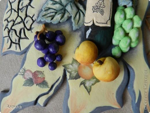 Картина панно рисунок Мастер-класс День рождения Декупаж Лепка Роспись Расколотое панно для кухни МК Тесто соленое фото 5