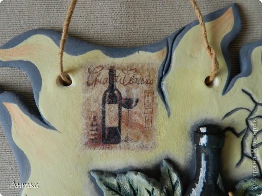 Картина панно рисунок Мастер-класс День рождения Декупаж Лепка Роспись Расколотое панно для кухни МК Тесто соленое фото 3