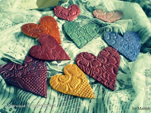 Вот такие вот магнитики были сделаны ко дню Влюбленных! фото 2