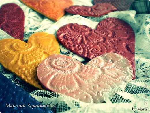 Вот такие вот магнитики были сделаны ко дню Влюбленных! фото 4
