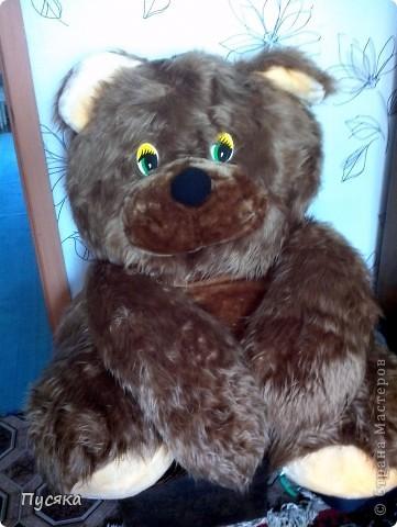 Это мой медведь. Я сшила его сама! фото 1