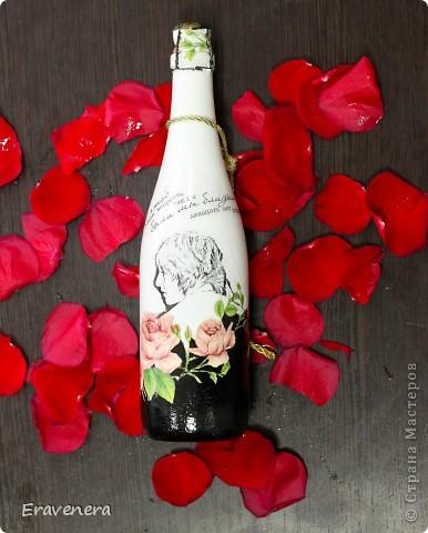 Сделала бутылку шампанского, которую подарю подругу на день ее рождения фото 7