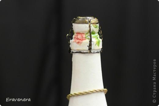 Сделала бутылку шампанского, которую подарю подругу на день ее рождения фото 6