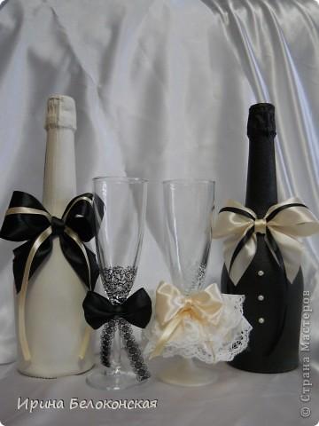 Здравствуйте, дорогие Мастера и Мастерицы! Вот мой новый свадебный набор. Показали фото из нета и попросили сделать так же. фото 1