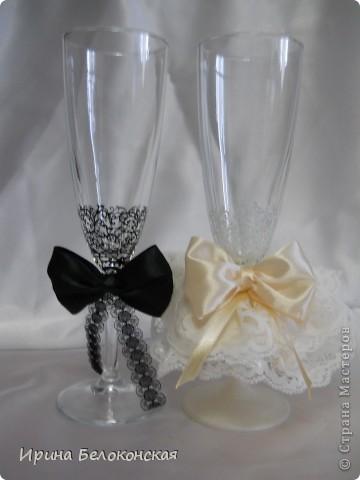 Здравствуйте, дорогие Мастера и Мастерицы! Вот мой новый свадебный набор. Показали фото из нета и попросили сделать так же. фото 2