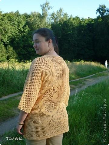 Рубаху свободного покроя можно  и связать из ниток, В данном случае использую филейную сетки с рисунком в ней. Удобно и практично. фото 2