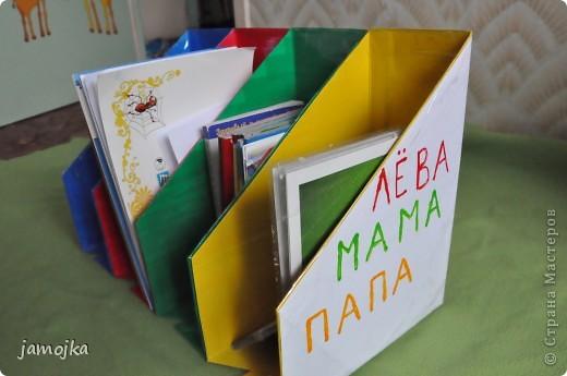 Идея пришла когда в очередной раз прибирала книжки после прочтения с сыном, получилось даже 3 в 1, и порядок и цвета и буквы, все постепенно изучаем. фото 5