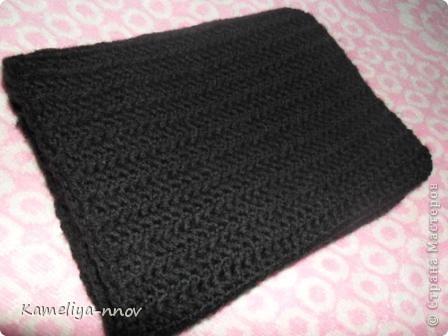 Теплый зимний шарф фото 3