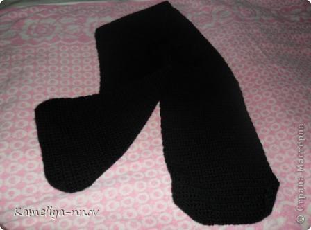 Вязание крючком Теплый зимний шарф