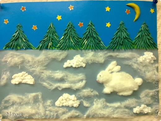 Трудяга ежик. В работе использован картон для детского творчества, бархатная бумага. Груша - это украшение с палочки для декорирования коктейлей. фото 2