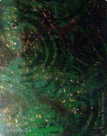 Вот такой ларец у меня получился в результате трехдневных трудов.  По размерам я бы даже сказала не ларец, а ларёк! Пыталась создать эффект малахита или змеевика, но Хозяйка медной горы не дозволила мне. Ну и ладно. Куда мне тягаться с Матушкой Природой и Господом Богом. Просто нарядная зеленая коробка- так скажем. фото 4