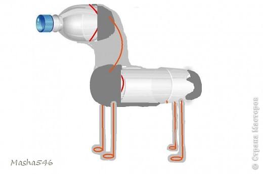 Что бы сделать коня Первым делом (берём маленькую бутылку ) и режим по красной линии.  фото 2