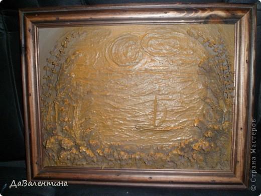 Флористика Коллаж Мини МК Картина-панно Коллаж в технике терра Лунная дорожка Материал природный фото 7