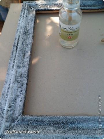 Флористика Коллаж Мини МК Картина-панно Коллаж в технике терра Лунная дорожка Материал природный фото 13