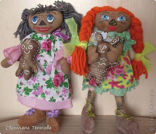 Куколки по мотивам Реггеди Энн. фото 1