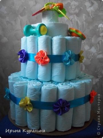 торт решила сделать из одноразовых пеленок,а не из памперсов фото 2