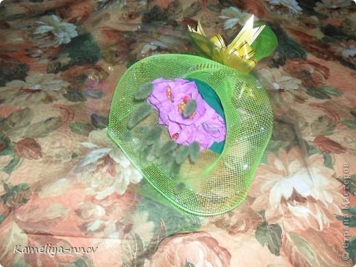 Конфетно-цветочный букет на 8 марта фото 1