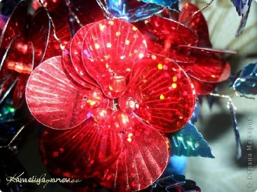 Букет цветов из пайеток фото 3