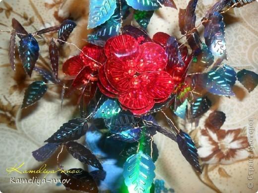 Букет цветов из пайеток фото 4