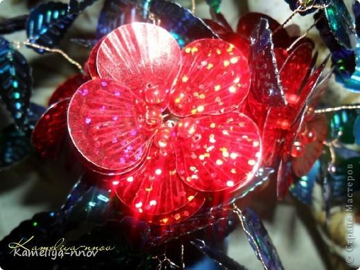 Букет цветов из пайеток фото 5