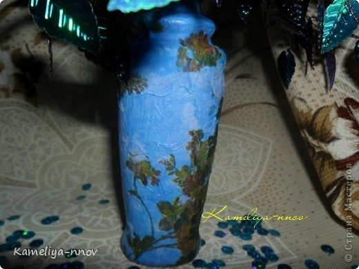 Букет цветов из пайеток фото 6