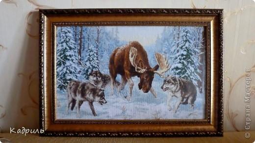 Любимому дяде охотнику в подарок! Целый год вышивала))