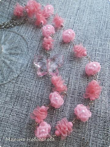 Купила в магазине 2 бабочки - одну насыщенного розового цвета, вторую - бледно-розовую. Долго лежали, и наконец я решила что с ними можно сделать. фото 4