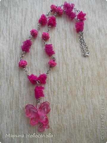 Купила в магазине 2 бабочки - одну насыщенного розового цвета, вторую - бледно-розовую. Долго лежали, и наконец я решила что с ними можно сделать. фото 1