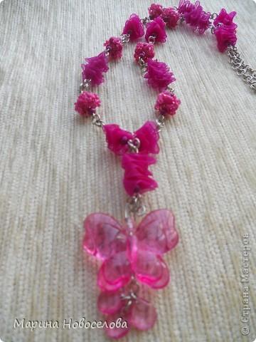 Купила в магазине 2 бабочки - одну насыщенного розового цвета, вторую - бледно-розовую. Долго лежали, и наконец я решила что с ними можно сделать. фото 2