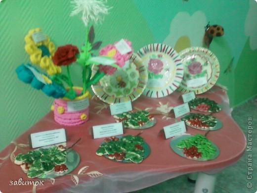 """""""Ваза с цветами"""" гофротрубочки.... фото 3"""