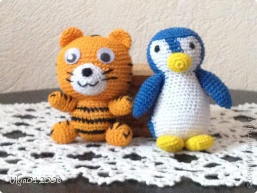 Тигра и пингвин фото 1