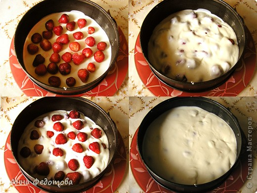 Делается очень просто, получается необычайно вкусно – застывший крем, лёгкий и нежный, как облачко! Можно готовить с любыми ягодами или мягкими фруктами (кроме, разве что, бананов – будет слишком приторно). фото 7