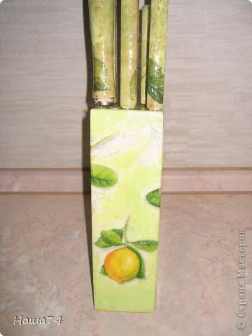 Вот так преобразила подставку и ножи для дачи фото 2