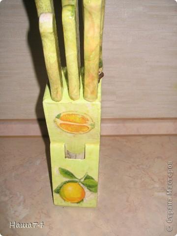 Вот так преобразила подставку и ножи для дачи фото 3