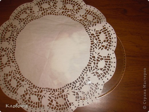 Мастер класс подарочной тарелки.Обратный декупаж. фото 4