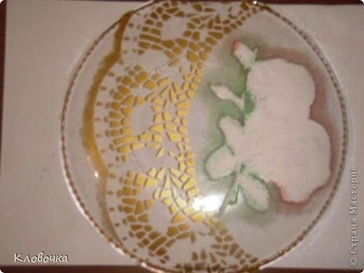 Мастер класс подарочной тарелки.Обратный декупаж. фото 6