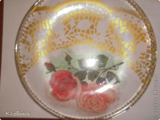 Мастер класс подарочной тарелки.Обратный декупаж. фото 7