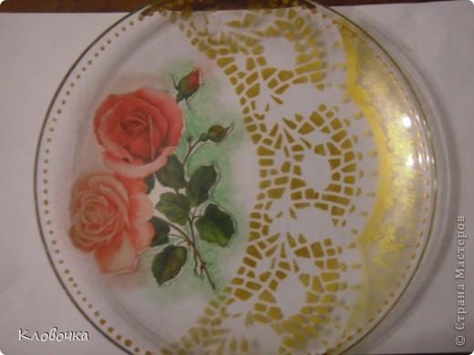 Мастер класс подарочной тарелки.Обратный декупаж. фото 10