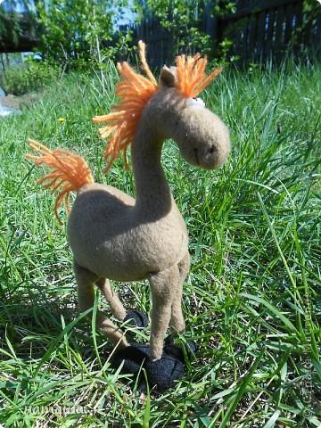 Здравствуйте, дорогие друзья!!!! Где- то промелькнула в интернете забавная лошадка, а так как я питаю страсть к этим прекрасным животным, решила создать свой домашний  табунчик.  фото 6