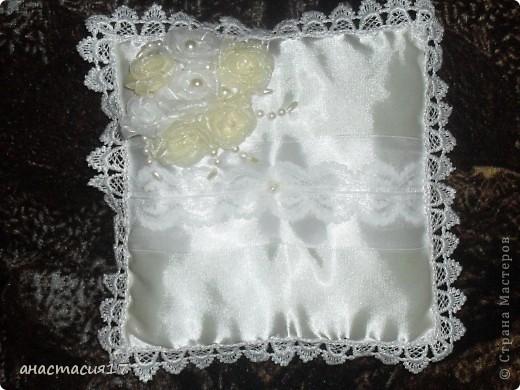 """маленькие красотулечки""""подушки  для колец"""" фото 4"""