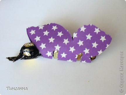 Каждая бабочка содержит две конфетки:круглая-голова, длинная-туловище. фото 3