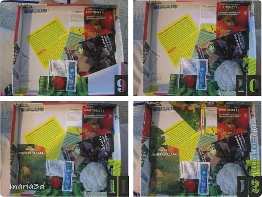 Коробка для хранения семян. Каждый раз, перебирая семена, ужасаюсь страшненькой коробочке в которой они хранятся. Порой семеня валяются где придется, перетянутые резинкой или завернуты в газетный обрывок.  Когда я, в преддверии посадочного сезона, не нашла очередные семена дома (точно знаю, что были!), то подумала - всё! Пора что-то с ними делать!  И сделала: фото 10