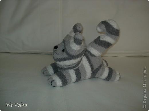 Дорогие мастерицы! Хочу показать свежесшитого котю. Он из махровых носков, поэтому такой упитанный. фото 3
