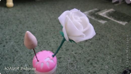 Решила сделать большую розу, а основу-пенопластовый шарик ни где не могу найти. Ну нет у нас в магазинах такого чуда. фото 1